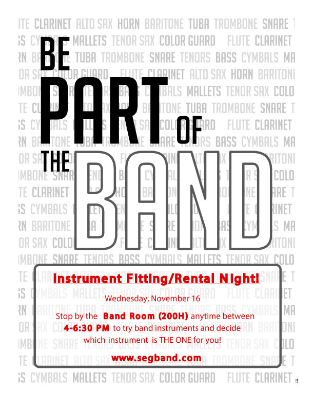 Band Instrument Fitting Night 11/16