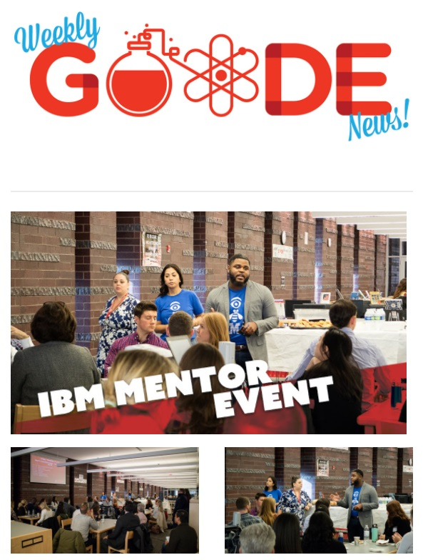 Sign-Up for the new Weekly GOODE News!