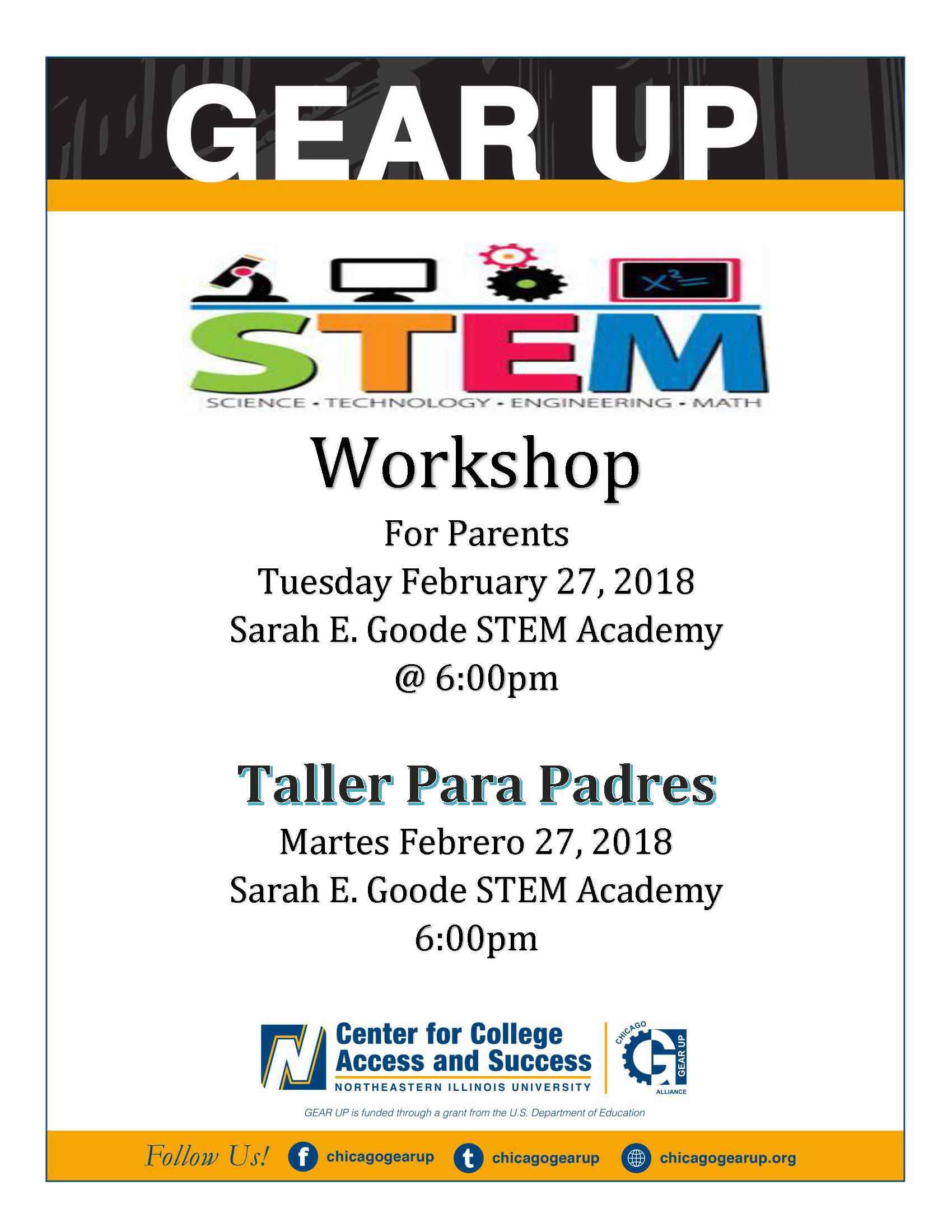 GEAR UP ​Workshop​ for Parents/ Taller para Padres
